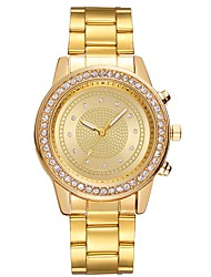 cheap -Women's Dress Watch 30 m Chronograph Creative Luminous Stainless Steel Band Analog Sparkle Gold - Gold Silver Rose One Year Battery Life / Large Dial / SSUO LR626