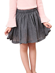 cheap -Kids Girls' Solid Colored Skirt