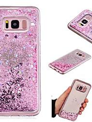 billiga -fodral Till Samsung Galaxy S7 edge / S7 Flytande vätska / Spegel Skal Glittrig Hårt TPU för S9 / S8 Plus / S8