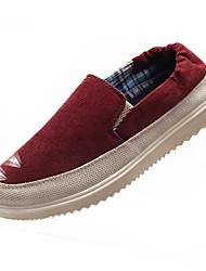 cheap -Men's Rubber Spring / Summer Comfort Loafers & Slip-Ons Red / Green / Khaki