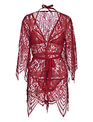 cheap -Women's Babydoll & Slips Nightwear - Lace, Solid Colored