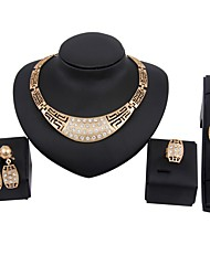 cheap -Women's Jewelry Set - Gold Plated European, Fashion Include Chain Necklace / Bridal Jewelry Sets / Link Bracelet Gold For Wedding / Birthday