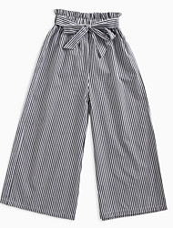 cheap -Kids Girls' Black & White Striped Pants