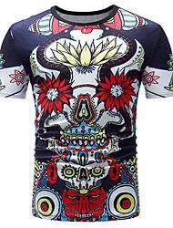 abordables -Tee-shirt Homme, Fleur Basique