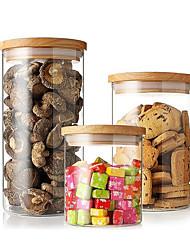 economico -Organizzazione della cucina Scatolette e conservazione Vetro Contenitore / corpo trasparente / Adorabile 3 pezzi