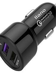abordables -Cargador de Coche Cargador usb Universal Multisalida / QC 3.0 2 Puertos USB 3 A DC 12V-24V para