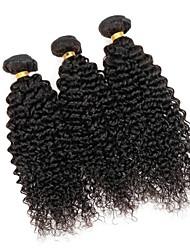 Недорогие -3 Связки Монгольские волосы Kinky Curly 8A Натуральные волосы Человека ткет Волосы Удлинитель Пучок волос 8-28 дюймовый Естественный цвет Ткет человеческих волос Удлинитель Натуральный Лучшее качество