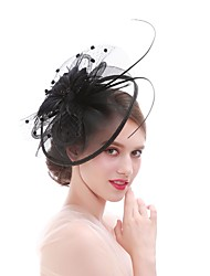 cheap -Women's Elegant / Fashion Fascinator - Solid Colored Flower / Mesh