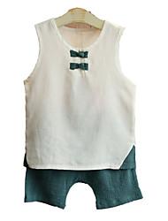 Недорогие -Дети Дети (1-4 лет) Мальчики Контрастных цветов Без рукавов Набор одежды