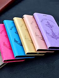 Недорогие -Кейс для Назначение Apple iPhone X / iPhone 8 Plus Бумажник для карт / Кошелек / Флип Чехол Однотонный / Слова / выражения Твердый Кожа PU
