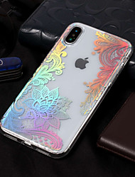 cheap -Case For Apple iPhone X / iPhone 8 IMD / Pattern Back Cover Lace Printing Soft TPU for iPhone X / iPhone 8 Plus / iPhone 8