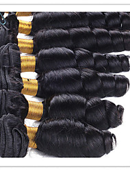 cheap -Indian Hair / Loose Wave Wavy Natural Color Hair Weaves / Extension / Human Hair Extensions Human Hair Weaves Soft / Hot Sale / 100%
