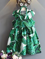 cheap -Kids Girls' Tropical Leaf Floral Sleeveless Dress