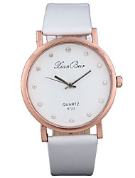 cheap -Men's / Women's Wrist Watch Chinese Chronograph / Imitation Diamond / Casual Watch Leather Band Luxury / Fashion Black / White / Brown