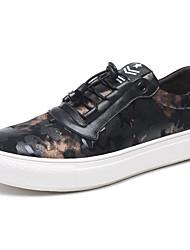 povoljno -Muškarci Cipele Koža / Mekana koža Jesen Udobne cipele Sneakers Crn / Crvena
