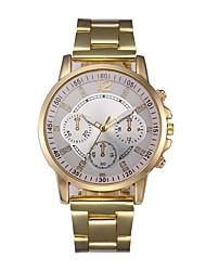 Недорогие -Муж. Нарядные часы Китайский Секундомер Нержавеющая сталь Группа На каждый день Золотистый / SSUO LR626