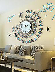 cheap -Modern/Contemporary Metal Round Indoor,AA Wall Clock
