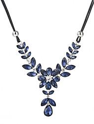 abordables -Cristal / Zircon Colliers Déclaration - Forme de Feuille Mode Gris, Bleu 47+5 cm Colliers Tendance Pour Quotidien, Sortie