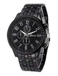 cheap -Men's Dress Watch Chinese Chronograph / Creative / Large Dial Stainless Steel Band Fashion Black