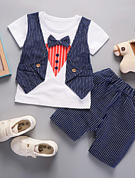 cheap -Kids / Toddler Boys' Striped Short Sleeve Clothing Set
