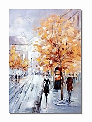 cheap -STYLEDECOR Modern Hand Painted Abstract Road in The Street Oil Painting on Canvas for Wall Art