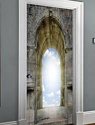 Недорогие -Декоративные наклейки на стены - 3D наклейки Пейзаж / Геометрия Гостиная / Кабинет / Офис