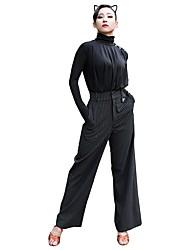 Недорогие -Латино Балетное трико Жен. Учебный Ice Silk (искусственное волокно) Стразы Длинный рукав трико / Комбинезон-пижама