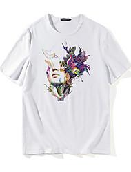 baratos -Homens Camiseta Punk & Góticas Moda de Rua Retrato