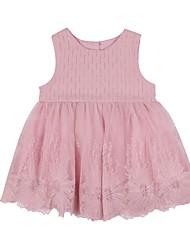 Недорогие -Дети (1-4 лет) Девочки Цветок солнца Цветочный принт Без рукавов Платье