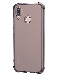 Недорогие -Кейс для Назначение Huawei P20 Pro / P20 lite Защита от удара / Прозрачный Кейс на заднюю панель Однотонный Мягкий ТПУ для Huawei P20 / Huawei P20 Pro / Huawei P20 lite / P10 Lite