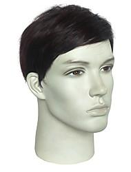 Недорогие -Wig Accessories Прямой Стрижка боб / Короткий Боб / Боковая часть Искусственные волосы Модный дизайн / синтетический / новый Коричневый