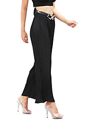 cheap -Women's Street chic Boho Wide Leg Pants - Solid Colored
