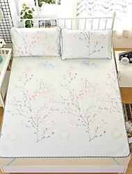 Недорогие -Пододеяльник наборы Цветочный принт Натуральное волокно Ледяной шелк Активный краситель 3 предмета