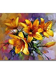 cheap -STYLEDECOR Modern Hand Painted Abstract A Bouquet of Flower Oil Painting on Canvas for Wall Art