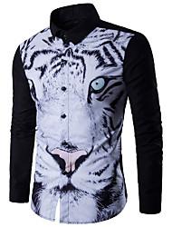 cheap -Men's Active Basic Shirt - Geometric Tiger, Print