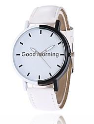 cheap -Men's / Women's Bracelet Watch Chinese Casual Watch / Large Dial PU Band Creative / Fashion Black / White / Blue
