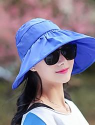 Недорогие -Жен. Шляпа от солнца - С разрезами Однотонный