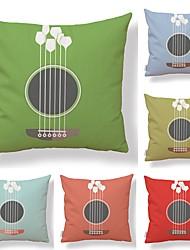 cheap -6 pcs Textile / Cotton / Linen Pillow case, Art Deco / Contemporary / Printing Fruit / Square Shaped