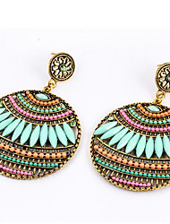 cheap -Women's Drop Earrings - Bohemian, Boho Light Pink / Light Green / Royal Blue For Daily