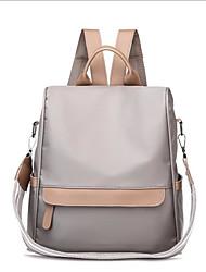 baratos -Unisexo Bolsas Tecido Oxford mochila Ziper para Viajar / Aniversário Preto / Cinzento