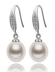 cheap -Women's Drop Earrings - Pearl, S925 Sterling Silver, Freshwater Pearl Natural, Elegant White For Party / Gift