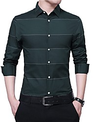 cheap -Men's Business Shirt - Striped