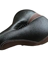 Недорогие -Седло для велосипеда Очень широкий Комфорт Подушка Кожа PU силикагель Велоспорт Шоссейный велосипед Горный велосипед Черный