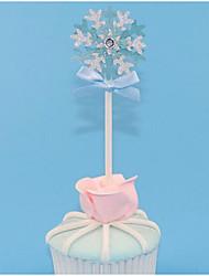 abordables -Decoración de Pasteles Tema Fantástico / Romance / Copo de Nieve Copo Papel Boda / Cumpleaños con Cintas / Flor 10pcs OPP