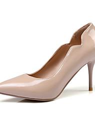 Недорогие -Жен. Обувь Лакированная кожа Весна лето Туфли лодочки Обувь на каблуках Для прогулок На шпильке Заостренный носок Красный / Розовый /