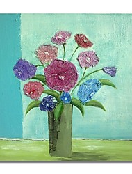 cheap -STYLEDECOR Modern Hand Painted Abstract A Bottle of Colorful Flowers Oil Painting on Canvas for Wall Art