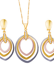 preiswerte -Damen Böhmische Schmuck-Set 1 Halskette / Ohrringe - Metallisch / Böhmische / Modisch Geometrische Form Gold / Schwarz Schmuckset /