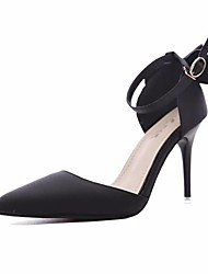 お買い得  -女性用 靴 シルク 春 ベーシックサンダル ヒール スティレットヒール ポインテッドトゥ のために パーティー グレー / レッド / ピンク