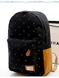 Недорогие -Универсальные Мешки холст рюкзак Узоры / принт Темно-синий / Пурпурный / Небесно-голубой