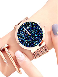 cheap -Women's Dress Watch Japanese Cute / Creative / New Design Alloy Band Sparkle / Colorful Rose Gold / Luminous / Two Years / Sony SR626SW
